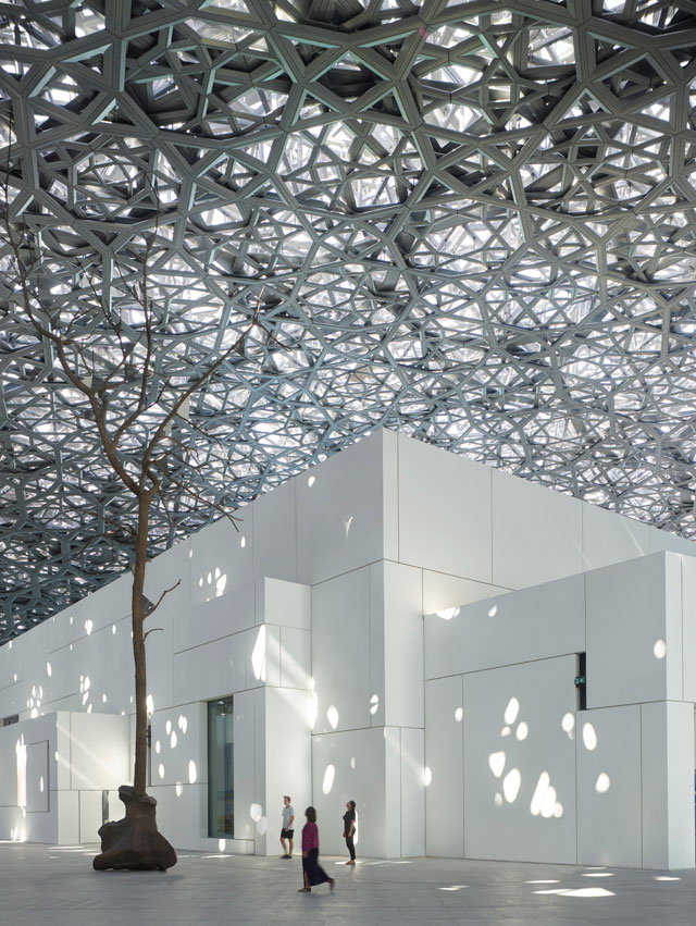 Louvre Abu Dhabi, Germination by Giuseppe Penone. © Louvre Abu Dhabi, Photograph: Roland Halbe.
