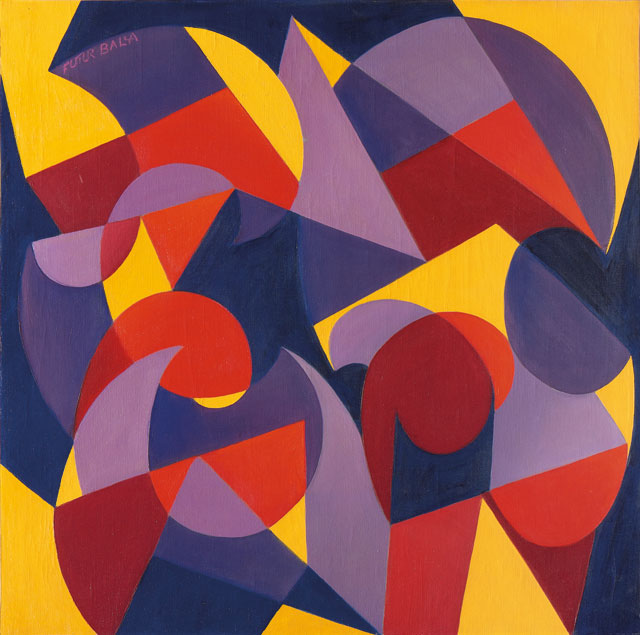 Giacomo Balla (1871-1958). Tick Tack N. 40, c1929. Oil on canvas, 77 x 77 cm. Courtesy Mazzoleni.