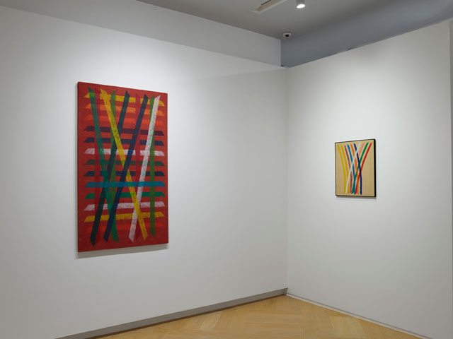 Installation view, Light in Motion: Balla, Dorazio, Zappettini. Courtesy Mazzoleni.