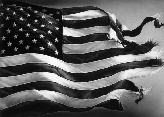 Robert Longo. Untitled (Election Day 2016), 2017. Charcoal on mounted paper, 152.4 x 109.9 cm. Courtesy Galerie Thaddaeus Ropac London · Paris · Salzburg. Photograph: Artist Studio.