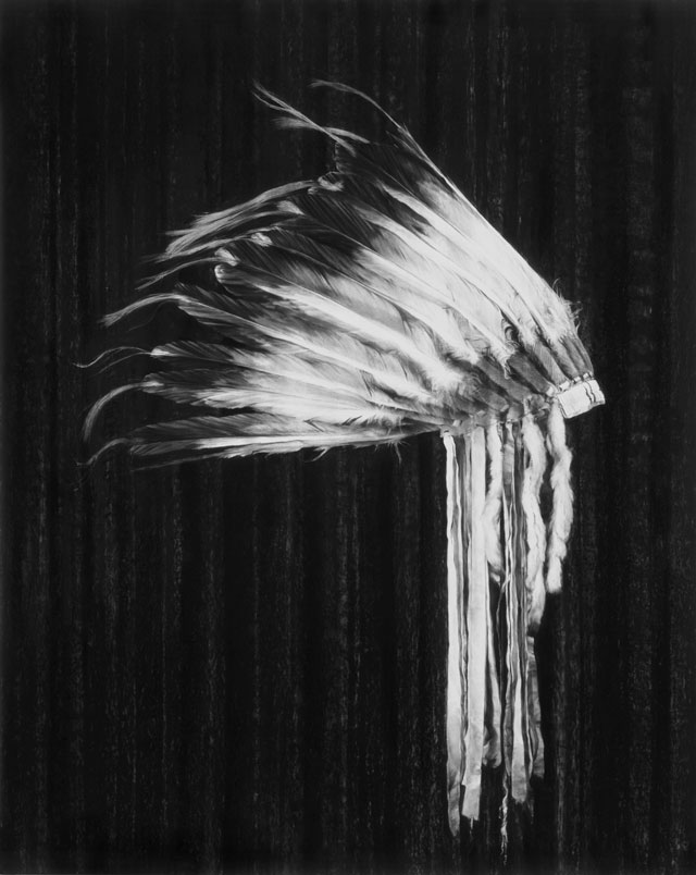 Robert Longo. Untitled (Osage Headdress, American Tragedy), 2017. Charcoal on mounted paper, 152.4 x 116.2 cm. Courtesy Galerie Thaddaeus Ropac London · Paris · Salzburg. Photograph: Artist Studio.