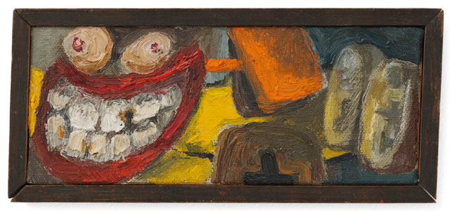 Lee Lozano. No title, c1962. Oil on canvas on wood, 6.3 x 16.5 cm. © The Estate of Lee Lozano. Courtesy the Estate and Hauser & Wirth.