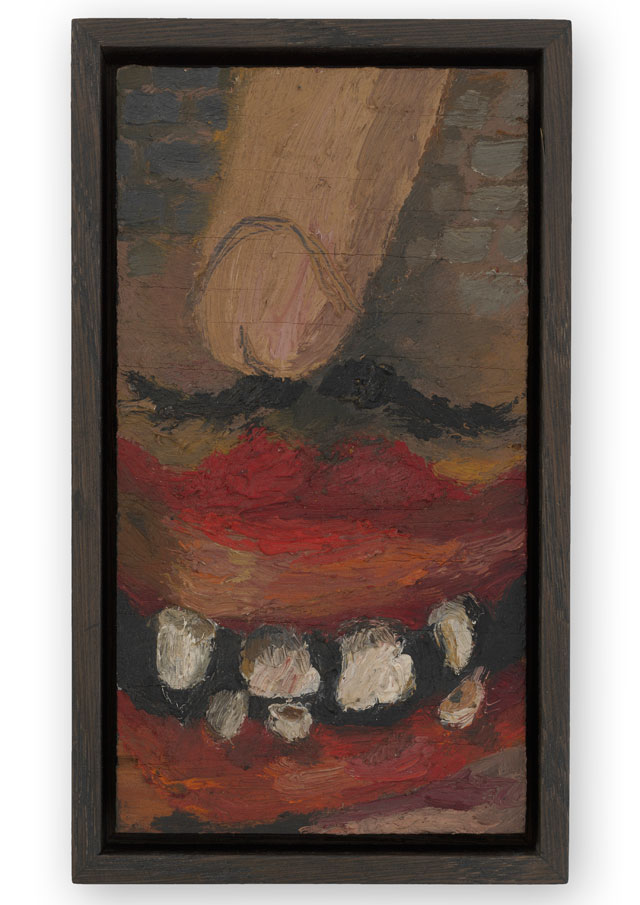 Lee Lozano. No title, c1962. Oil on plywood panel, 15.3 x 8.2 x 0.6 cm. © The Estate of Lee Lozano. Courtesy the Estate and Hauser & Wirth.