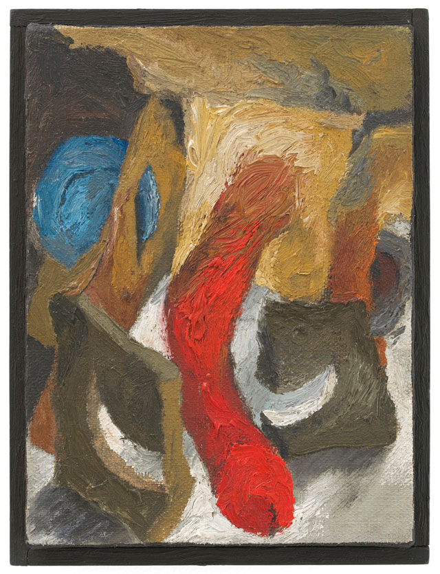 Lee Lozano. No title, c1962. Oil on canvas over wood, 17.1 x 12.8 x 4.4 cm. © The Estate of Lee Lozano. Courtesy the Estate and Hauser & Wirth.
