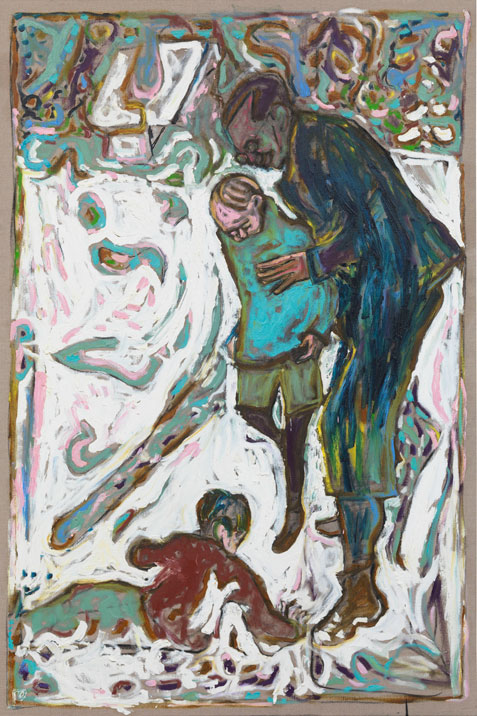 Billy Childish. <em>Carwitz im Winter III</em>, 2010. Oil and charcoal on linen, 183 x 122 cm (approx 6 x 4 ft).