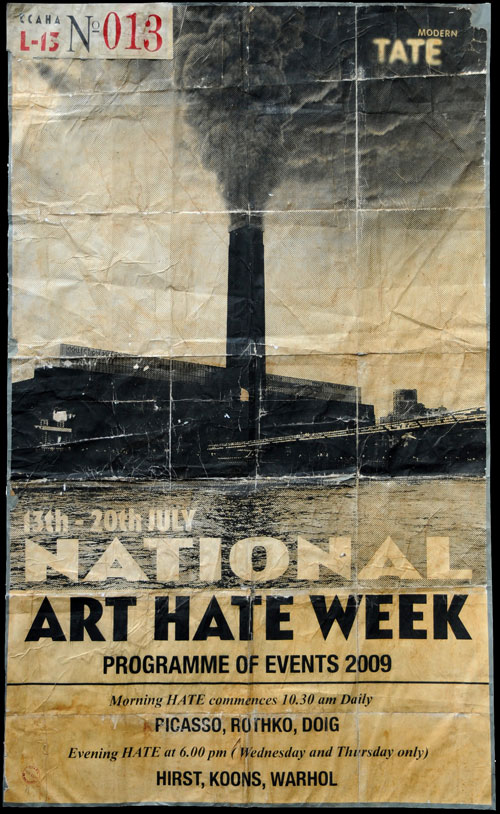 <em>Programme of Events Flyer, National Art Hate Week</em>, 2009. Copyright Out of Control: The Militant Art Hate Tendency 2011. Courtesy of the L-13 Light Industrial Workshop, Clerkenwell.