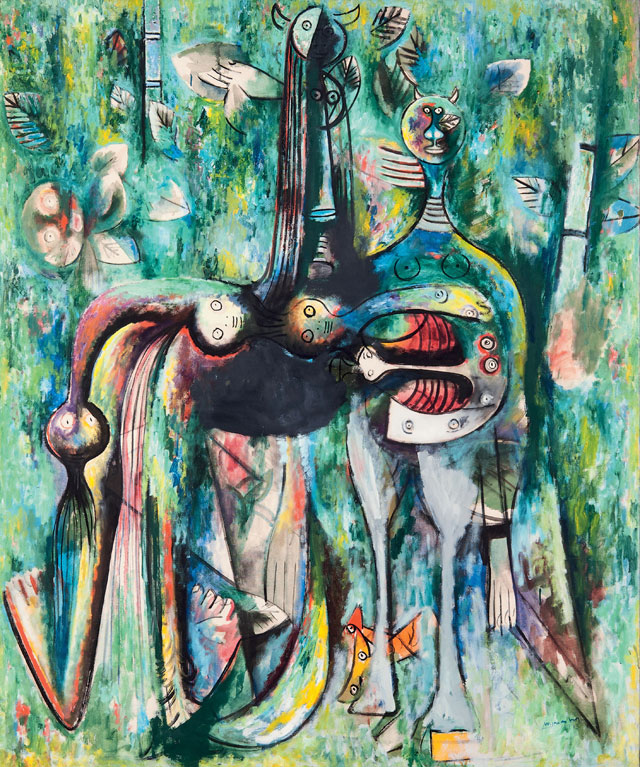 Wifredo Lam. Dark Malembo, God of the Crossroads, 1943. The Rudman Trust. © SDO Wifredo Lam.