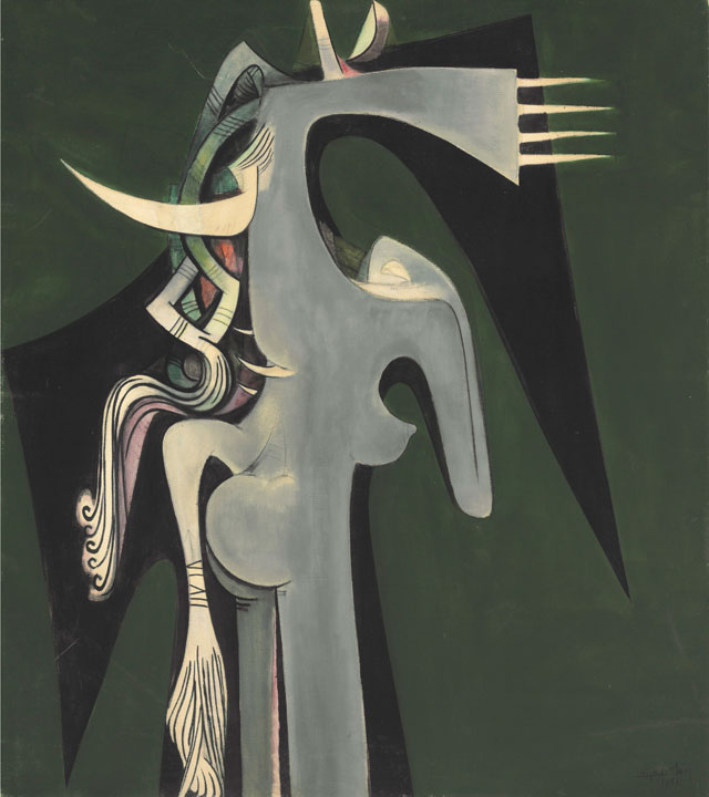 Wifredo Lam. Horse-Headed Woman, 1950. The Rudman Trust. © SDO Wifredo Lam.
