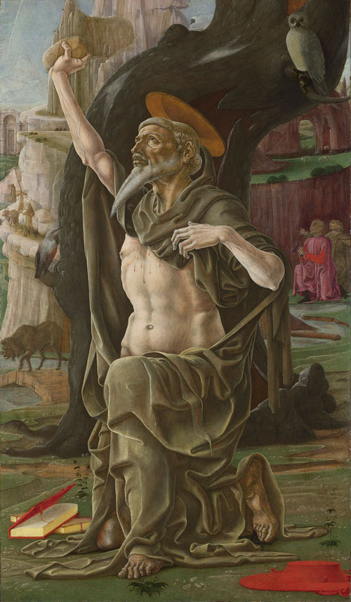 Cosimo Tura. Saint Jerome, probably about 1470. © The National Gallery, London.