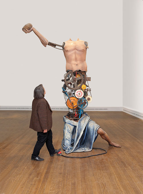 Michael Landy. Saint Jerome, 2012. Mixed media, 310 x 245 x 106 cm. Duerckheim Collection. © Michael Landy, courtesy of the Thomas Dane Gallery, London / Photograph: The National Gallery, London.