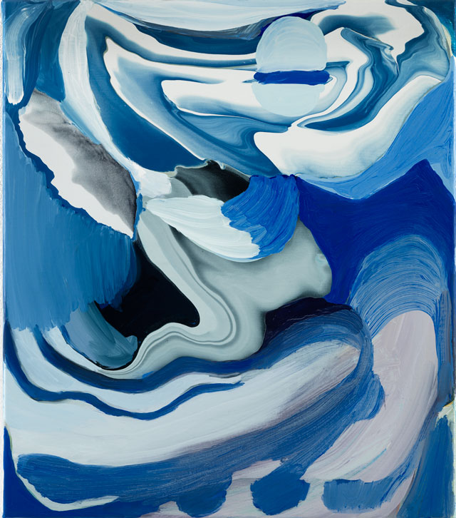Rezi van Lankveld. Blue, 2016. Oil on canvas, 55 x 48 cm (21.65 x 18.9 in). Courtesy of the artist and Petzel, New York.