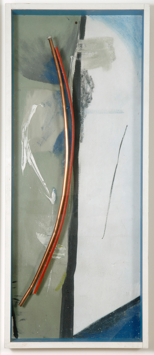 Peter Lanyon. Coast Soaring, 1958. Oil on canvas, 62½ x 26 x 4½ in. Private collection.
