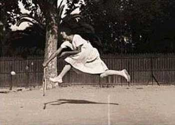 <b>Jacques Henri Lartigue, </b>Album 1911, Tennis player. Gelatin silver 