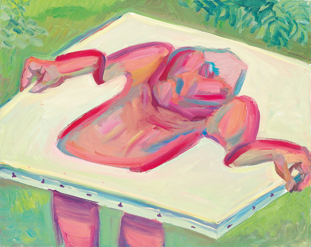 Maria Lassnig. Inside and Outside the Canvas IV, 1984–5. Oil paint on canvas, 80 x 100 cm. © Maria Lassnig Foundation.
