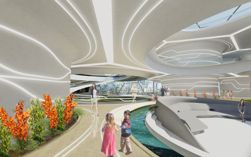 Future home &ndash; day view. Laboratory for Visionary Architecture (LAVA) Asia Pacific. <em>Home of the Future</em>, 2011.