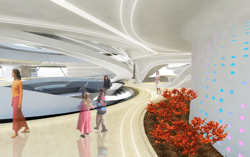 Interior view. Laboratory for Visionary Architecture (LAVA) Asia Pacific. <em>Home of the Future</em>, 2011.