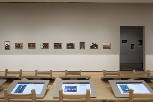 Installation view (2) of One-Way Ticket: Jacob Lawrence's Migration Series and Other Visions of the Great Movement North, The Museum of Modern Art, April 3–September 7, 2015. © 2015 The Museum of Modern Art. Photograph: Jonathan Muzikar.