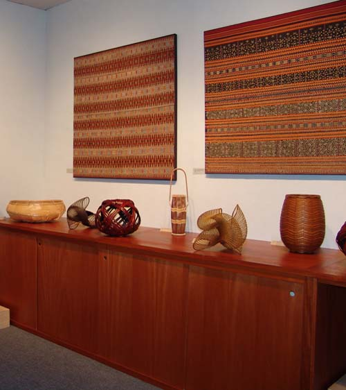 Japanese bamboo artworks. Master Craftsmen Baskets. Twentieth-century. 