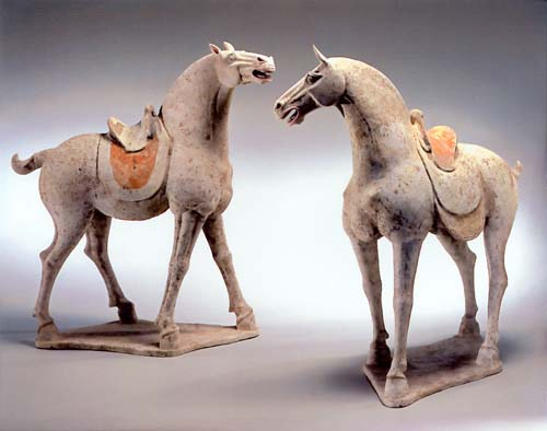 Earthenware Horses, Tang Dynasty, eraly 8th century. 20
