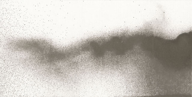 Li Huasheng. 1364. 2013. Ink on paper, 27 1/8 x 53 ¾ in (69 x 136.5 cm). Image courtesy Mayor Gallery.