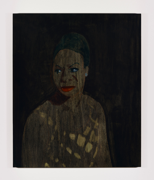 Eleanor Moreton. Nina (Absent Friends). Oil and pastel on birch panel. Photograph: Anna Arca and Ceri Hand Gallery.