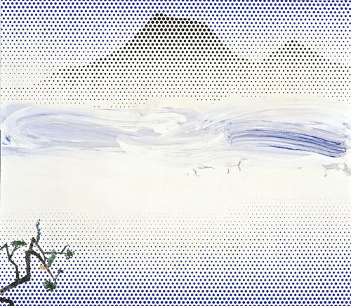 Roy Lichtenstein. Landscape in Fog, 1996. Private Collection. © Estate of Roy Lichtenstein/DACS 2012.