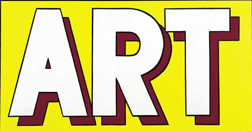 Roy Lichtenstein, <i>ART</i>, 1962. Oil on canvas. 91.4 x 172.7 cm / 