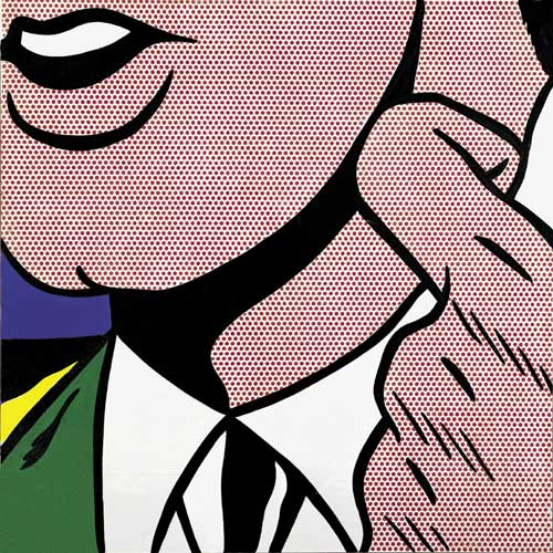 Roy Lichtenstein, <i>Half Face with Collar</i>, 1963. Oil and Magna on 