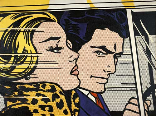 Roy Lichtenstein, <i>In the Car</i>, 1963. Oil and Magna on canvas. 30 