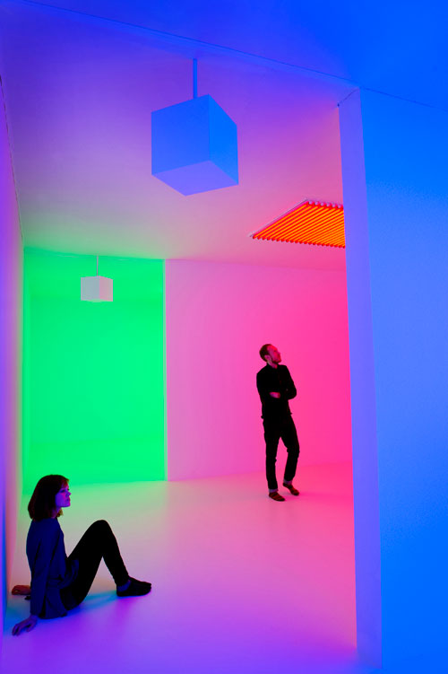 Carlos Cruz-Diez. Chromosaturation, 1965-2013. © the artist/DACS. Cruz-Diez Foundation. Photograph: Linda Nylind.