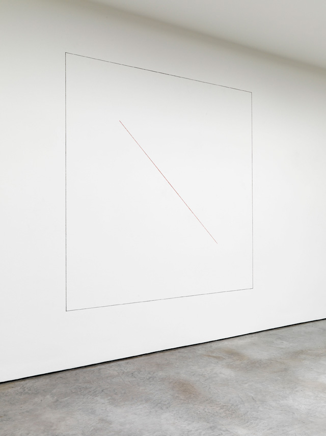 Sol LeWitt. Wall Drawing 157, 1973. Red and black crayon, 8 x 8 ft.