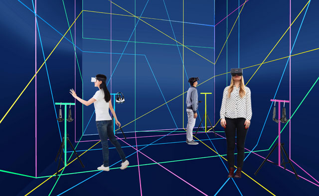 Spain's virtual reality installation, which was modelled on the city of Santander in northern Spain.