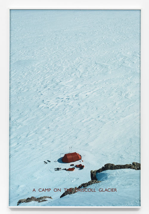 Richard Long. A Camp on the Driscoll Glacier, 2012. Photographic print, 138.5 X 92.5 cm. © the artist; Courtesy, Lisson Gallery, London.