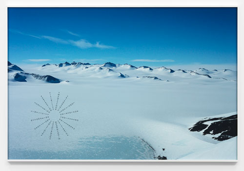 Richard Long. Antarctic Footprints, 2012. Photographic print, 92.5 X 138.5 cm. © the artist; Courtesy, Lisson Gallery, London.