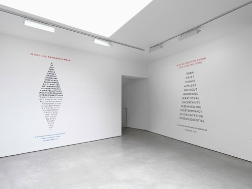Richard Long. Installation view (3). Lisson Gallery, London, 23 May – 12 July. Courtesy the artist and Lisson Gallery.