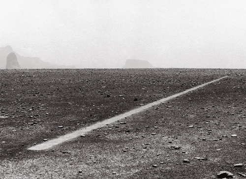 Richard Long. <em>A Line Made by Walking</em>, 1967.