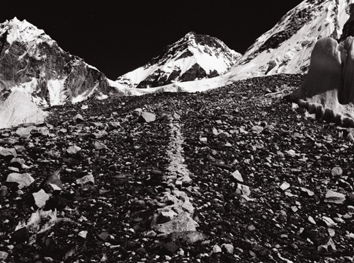 Richard Long. <em>A Line in the Himalayas</em>, 1975. © Copyright the artist