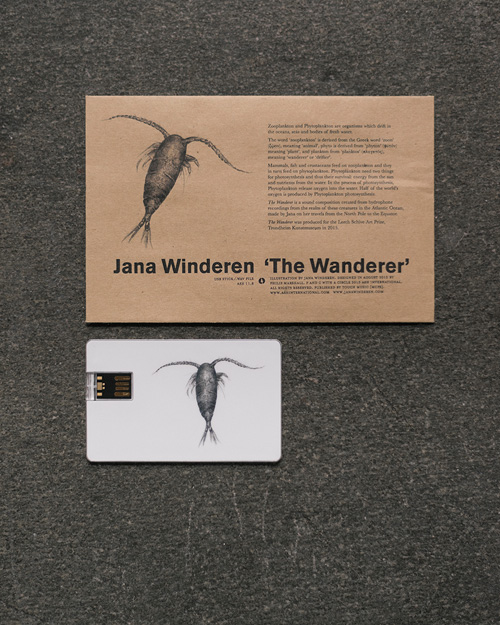 Jana Winderen. The Wanderer, 2015. 16-channel immersive sound installation and a USB stick release on Ash International.