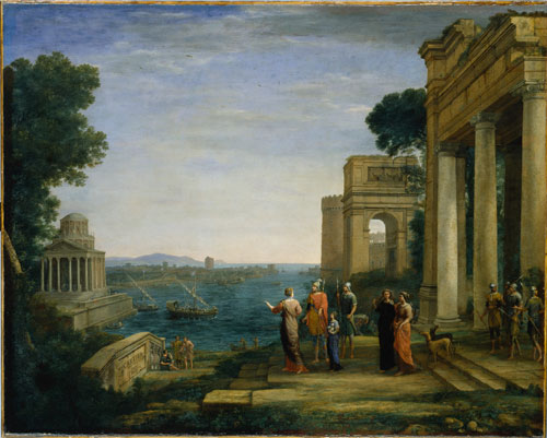 Claude Lorrain. <em>Dido and Aeneas at Carthage,</em> 1676. Oil on canvas, 120 x 149.2 cm. 