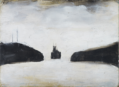LS Lowry. A Ship, c1965. Oil on board, 11.5 x 19 cm. The Lowry Collection, Salford. © The Estate of LS Lowry.