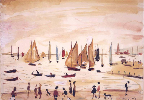 LS Lowry. Yachts, 1959. The Lowry Collection, Salford. © The Estate of LS Lowry.
