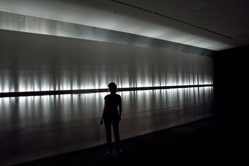 Rafael Lozano-Hemmer. Voice Array, 2013. Photograph: Antimodular Research.