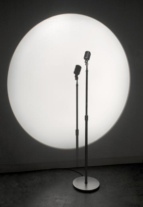 Rafael Lozano-Hemmer, <em>Microphone</em>, 2007. Mic records and plays back public participation. Dimensions variable. Courtesy of Haunch of Venison