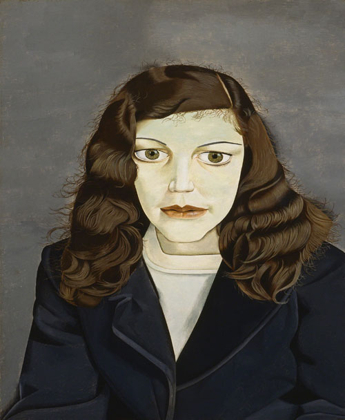 Lucian Freud. <em>Girl in a Dark Jacket</em>, 1947. Private Collection © The Lucian Freud Archive. Photo: Courtesy Lucian Freud Archive.