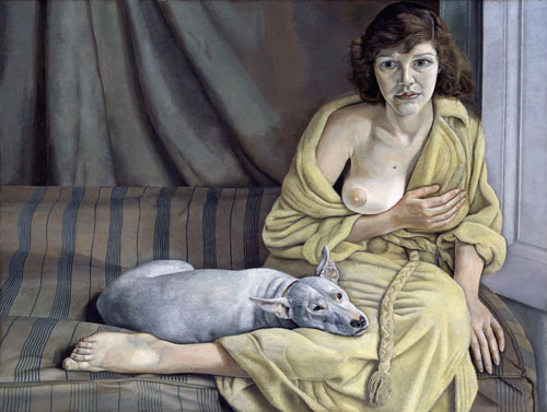 Lucian Freud. <em>Girl with a White Dog</em>, 1950-1. © Tate, London 2012. Purchased 1952.