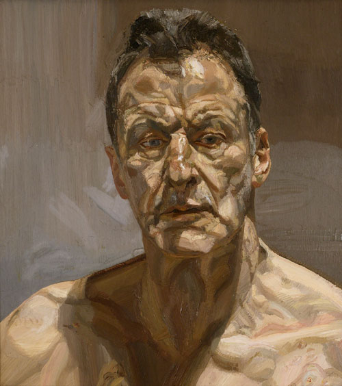 Lucian Freud. <em>Reflection (Self-portrait)</em>, 1985. Private Collection, Ireland © The Lucian Freud Archive. Photo: Courtesy Lucian Freud Archive.