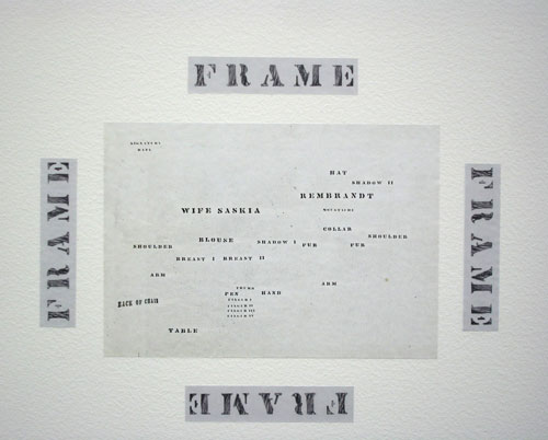 Luis Camnitzer. <em>Living room, </em>(detail) 1968. Photocopy on adhesive vinyl on wall and floor, dimensions variable. Daros Latinamerica Collection, Zurich.