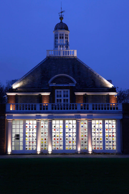 Lygia Pape. <em>Livro do Tempo (Book of Time)</em> 1961–63. Exterior view, <em>Magnetized Space</em>, Serpentine Gallery, London. © 2011 Jerry Hardman-Jones.