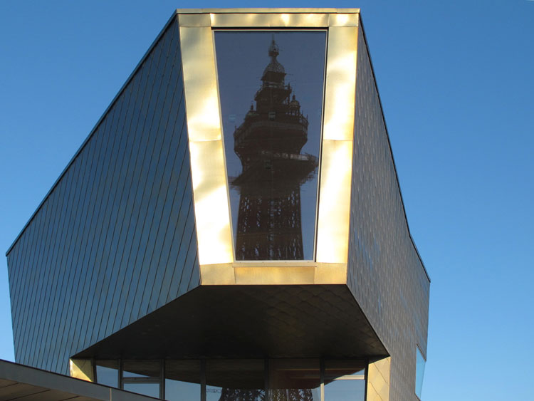 Tower of Love, Blackpool, Exterior view with reflection of Blackpool Tower. Photo: AdeRijke, courtesy dRMM.