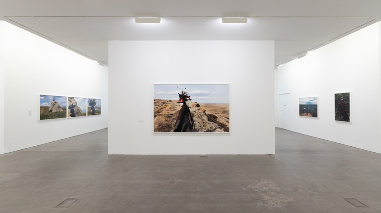 Installation view, Meryl McMaster, As Immense as the Sky, Ikon Gallery, Birmingham UK, 2019 © Ikon Gallery.